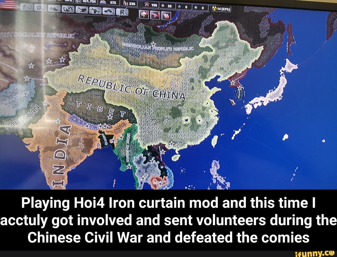 Playing Hoi4 Iron curtain mod and this time I acctuly got