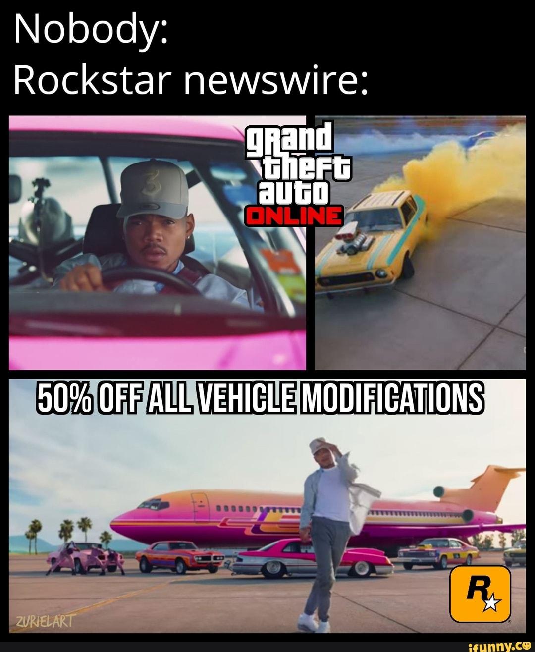 Nobody: Rockstar newswire: - iFunny :)