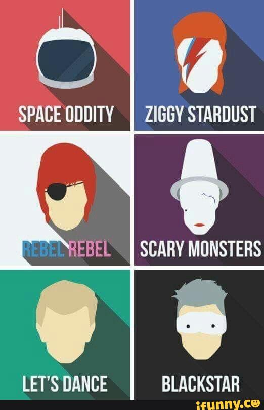 Space Uddity Ziggy Stardust Scary Monsters Let S Dance Blackstar Ifunny