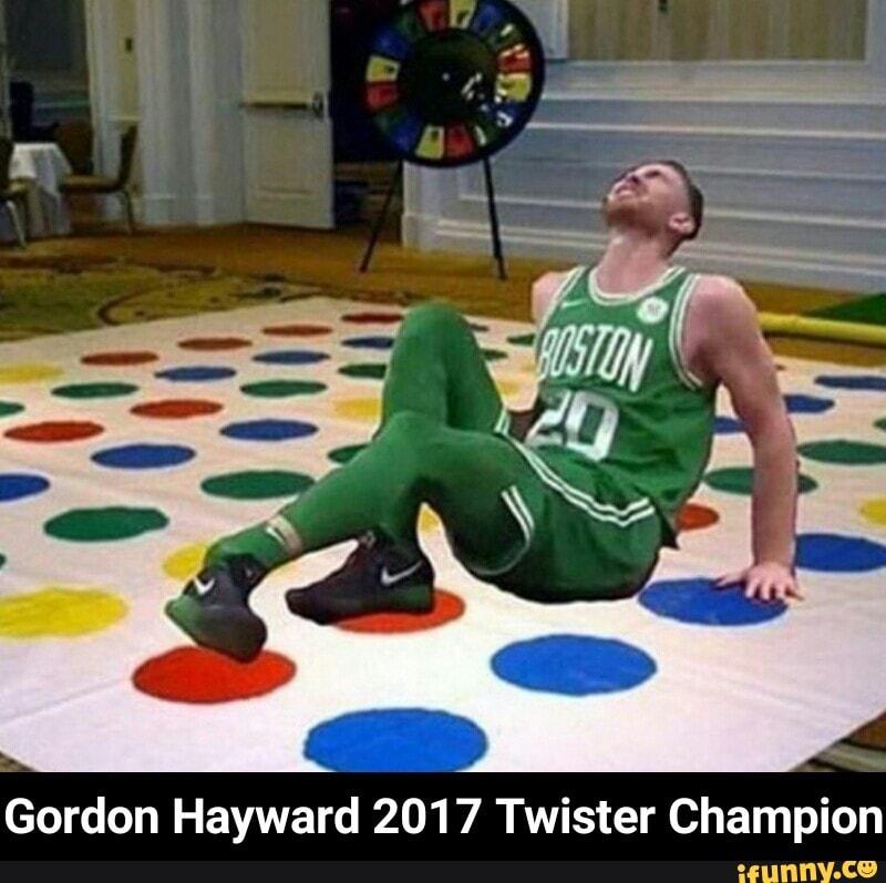 Gordon Hayward 2017 Twister Champion Gordon Hayward 2017 Twister Champion Ifunny