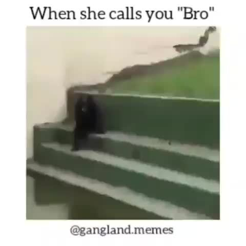 When she calls you bro