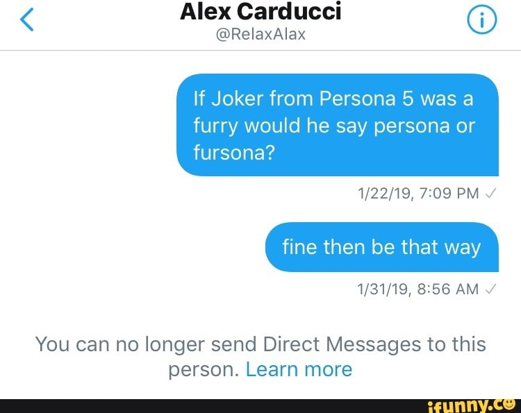 Alex Carducci © If Joker from Persona 5 was a furry would he