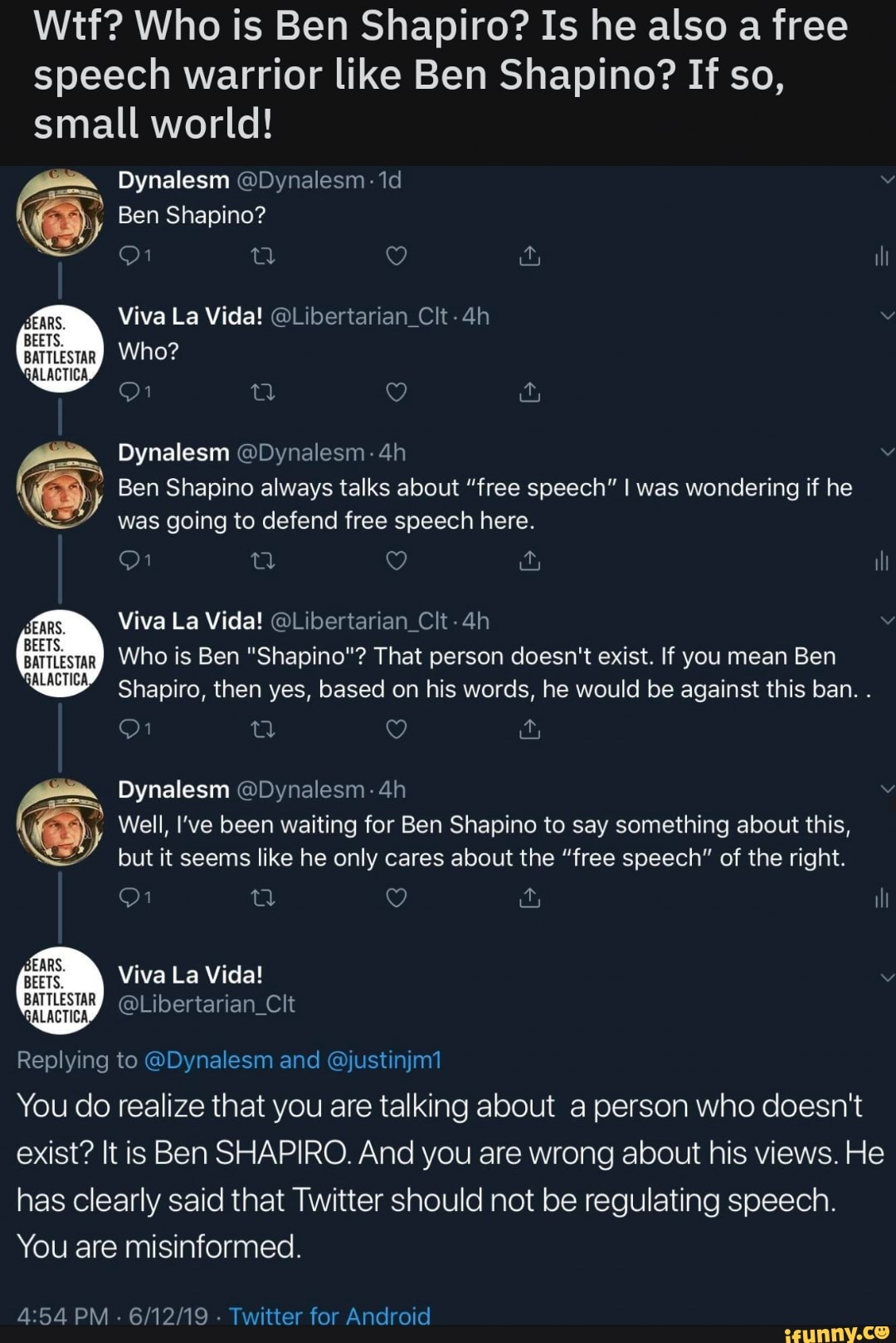 Wtf? Who is Ben Shapiro? Is he also a free speech warrior