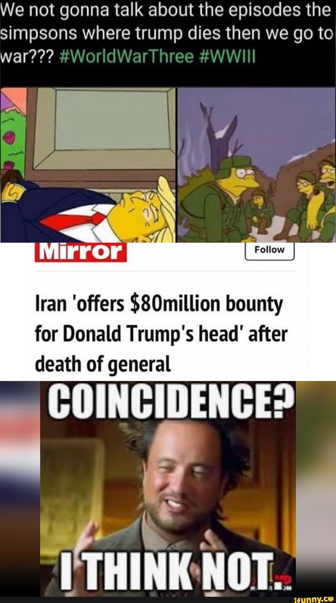 We Not Gonna Talk About The Episodes The Simpsons Where Trump Dies
