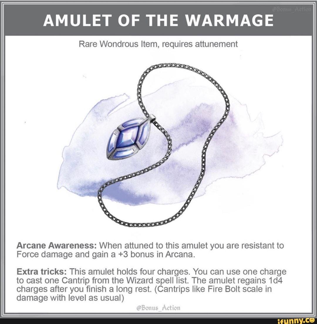 AMULET OF THE WARMAGE Rare Wondrous Item, requires
