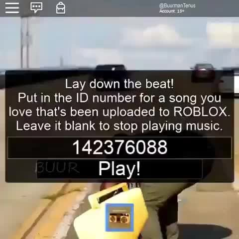 Lay Down The Beat I Put In The Id Number For A Song You Love That