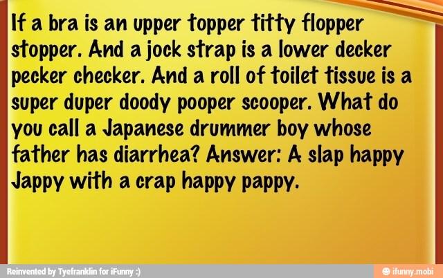 If A Bra Is An Upper Topper Titty Flopper 5 Stopper And A Jock