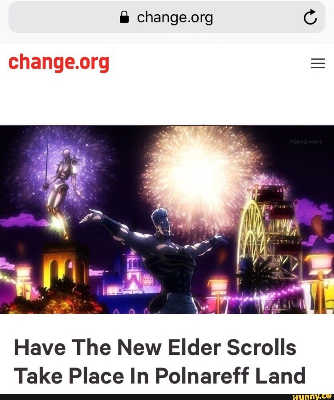 Change org E Have The New Elder Scrolls Take Place In Polnareff Land