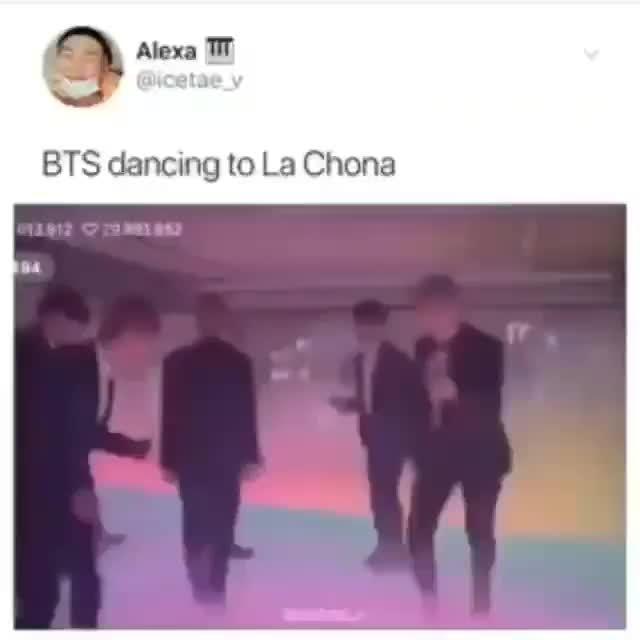BTS dancing to La Chona
