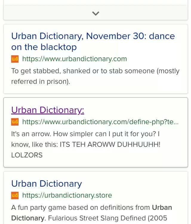 Urban dictionary street slang