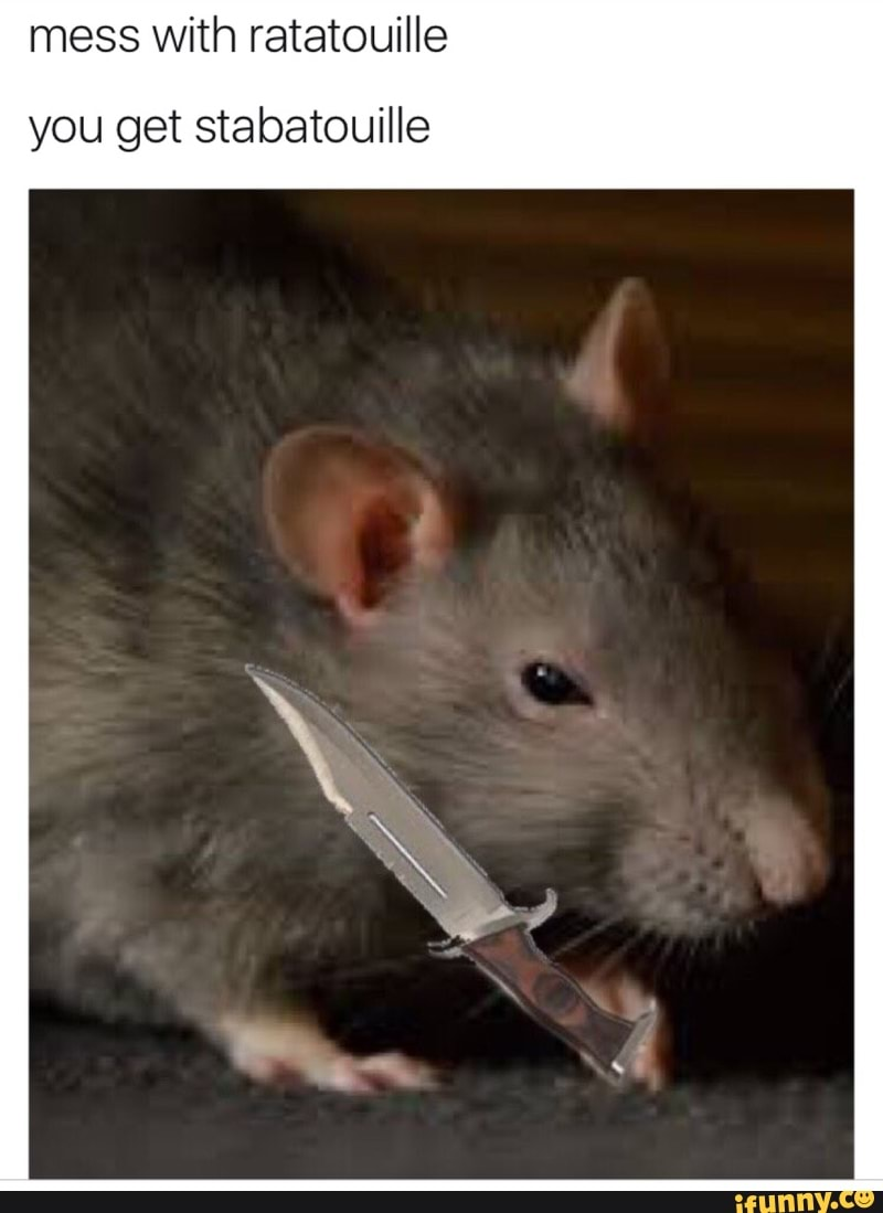 Mess With Ratatouille You Get Stabatouille Ifunny
