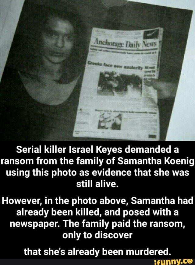 Serial killer Israel Keyes dem...