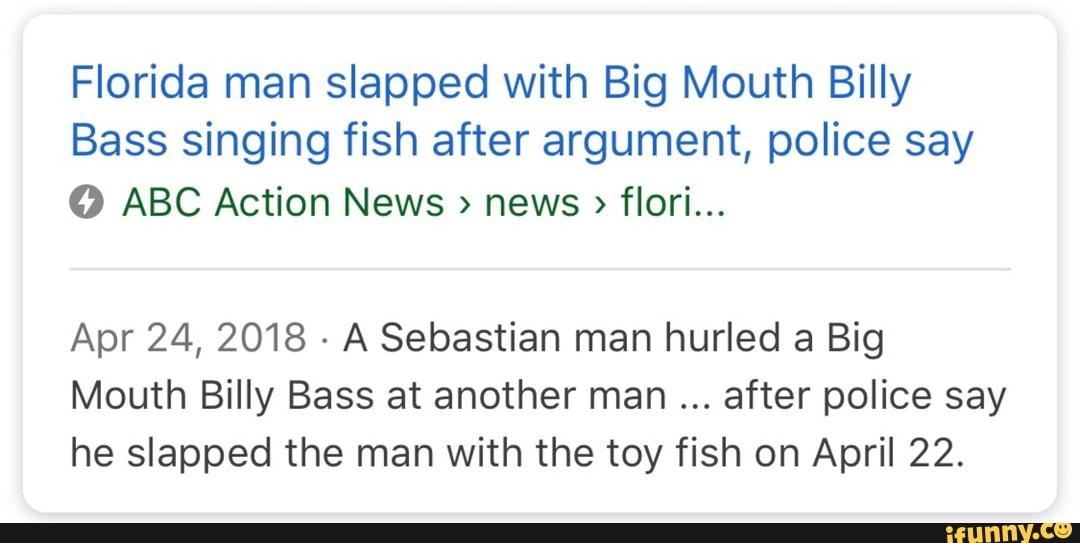 Florida man slapped with Big Mouth Billy Bass singing fish