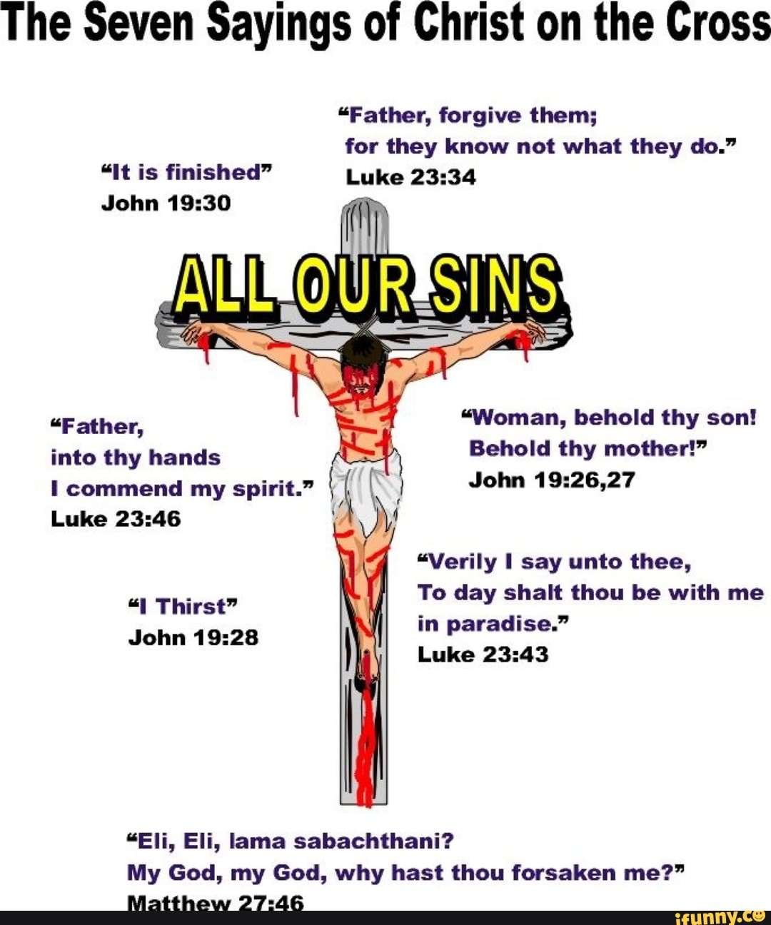 the seven sayings of christ on the