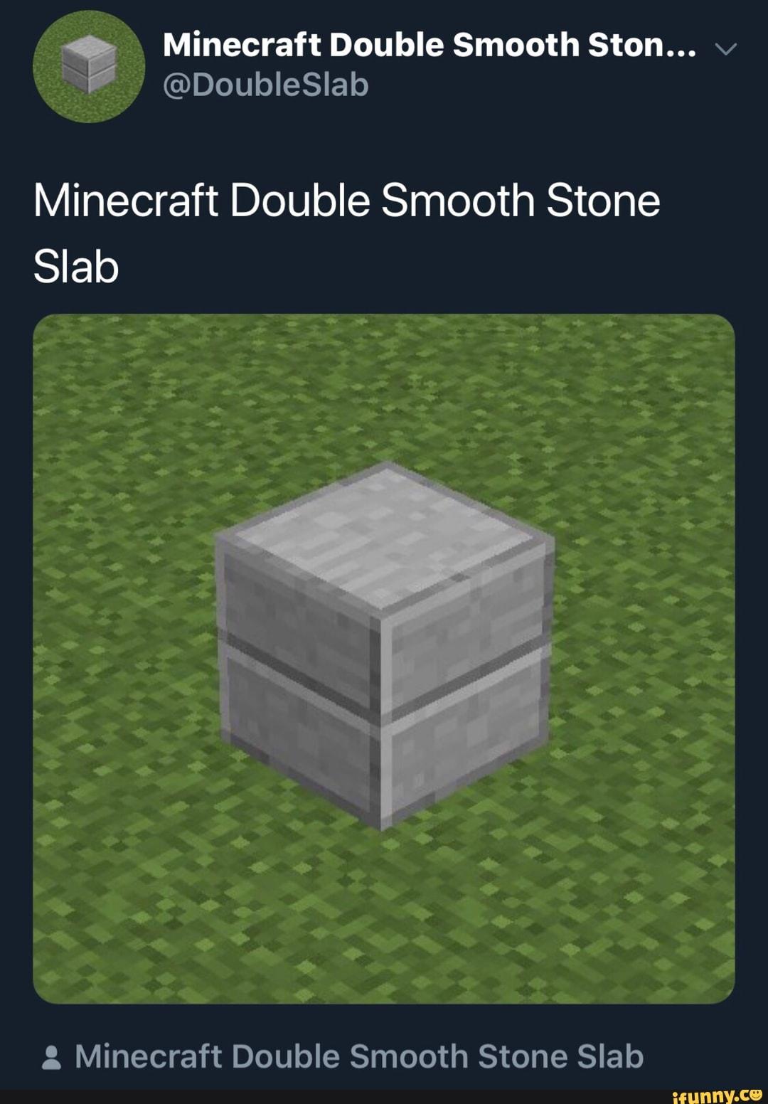 minecraft double stone slab