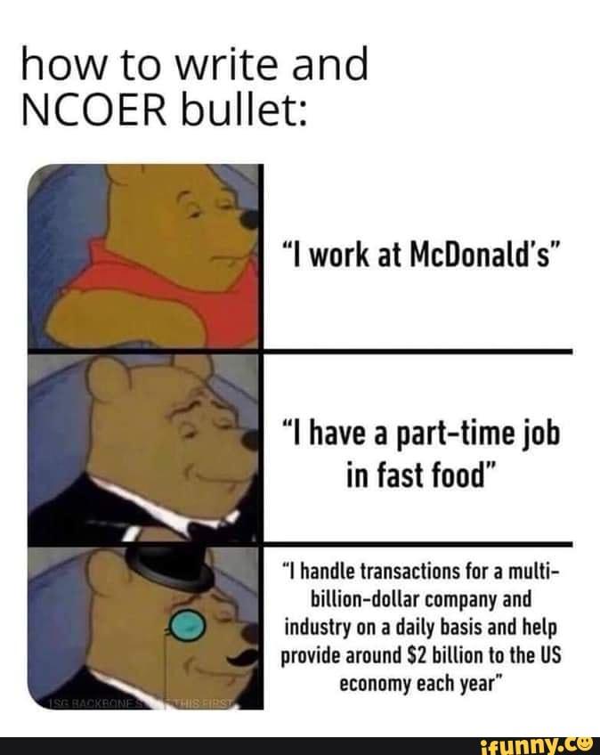 Ncoer writing help