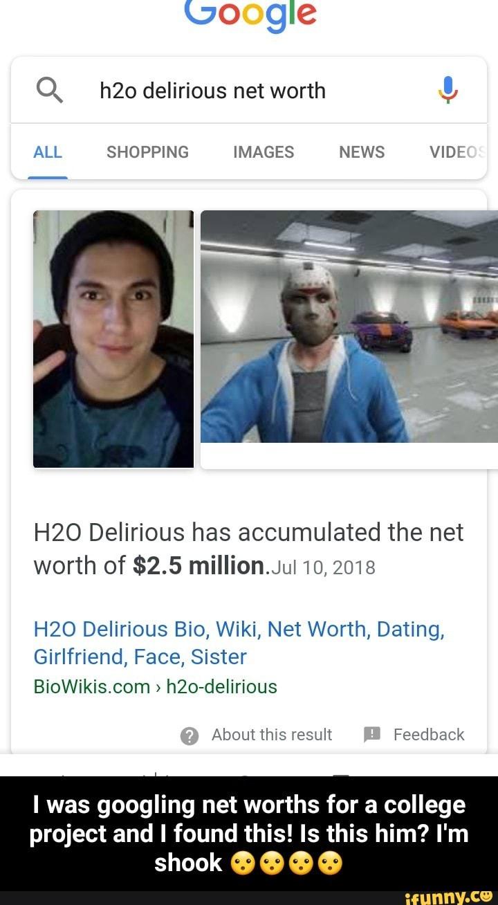 Q h20 delírious net worth !