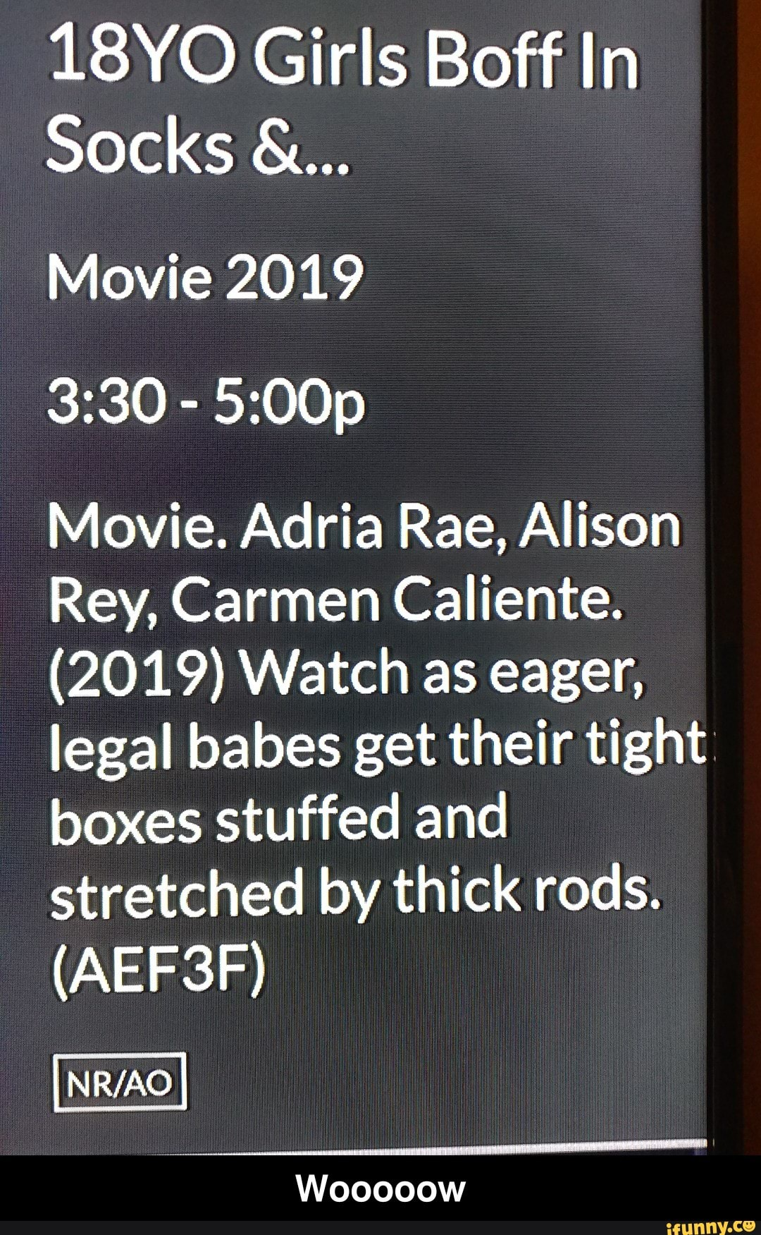 Alison Rey 18yo girls boff in socks & movie 2019 3:30 - 5:00p movie