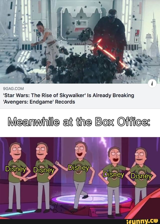 Star Wars The Rise Of Skywalker Ls Already Breaking Avengers Endgame Records Ifunny