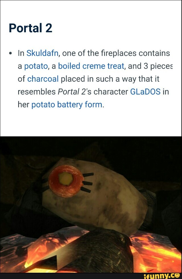 Portal 2 In Skuldafn One Of The fireplaces Contains A