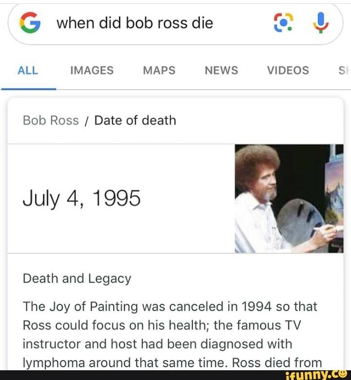 bob ross death