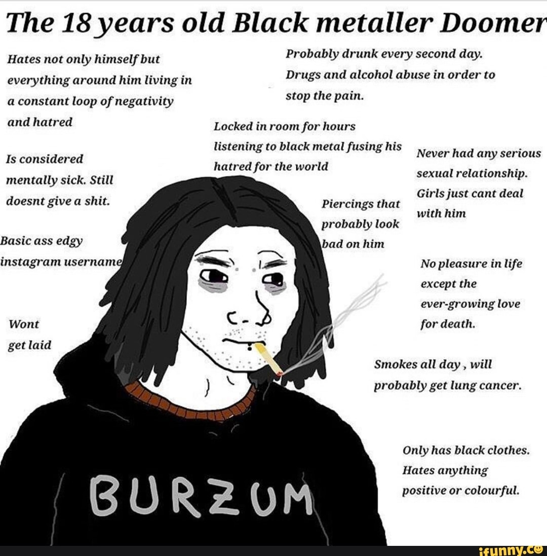 The 18 Years Old Black Metaller Doomer Hates Not Only Lu Mselfbut