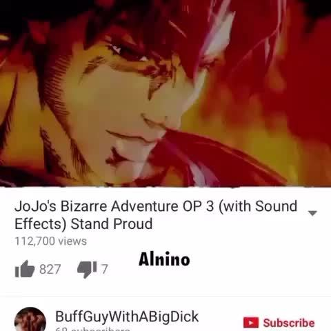 JoJo's Bizarre Adventure OP 3 (with ound, ', Effects) Stand Proud