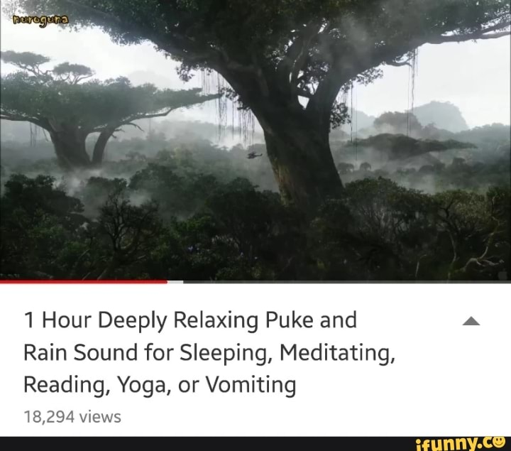 1 Hour Deeply Relaxing Puke and Rain Sound for Sleeping