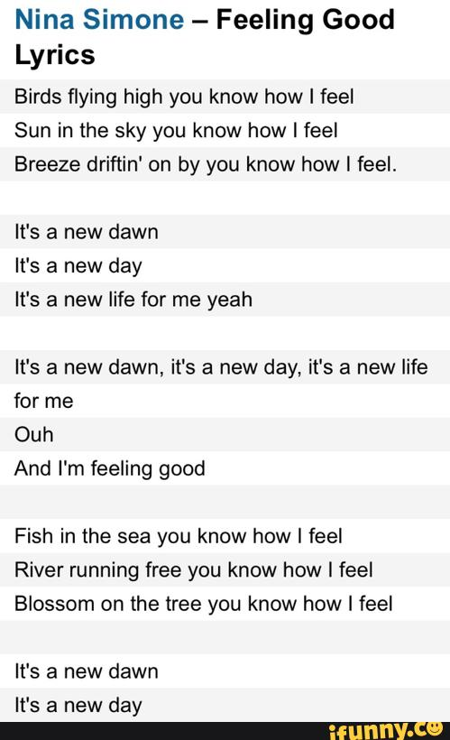 river running free you know how i feel