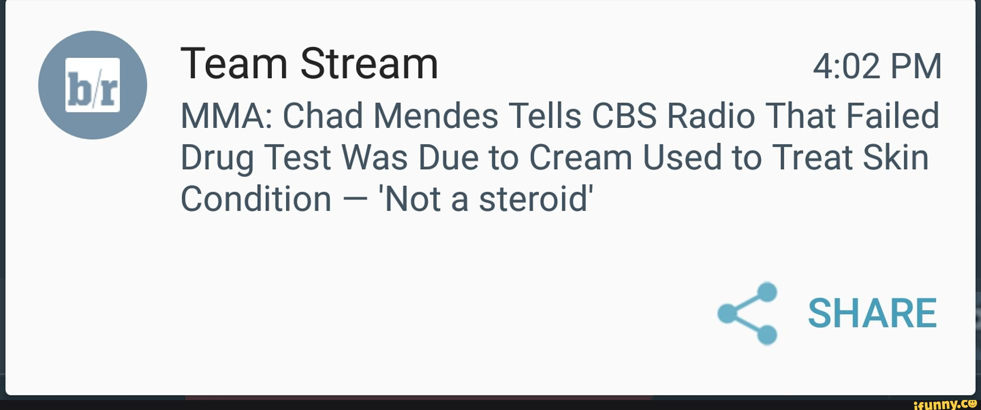 M Team Stream 4:02 PM MMA: Chad Mendes Tells CBS Radio That