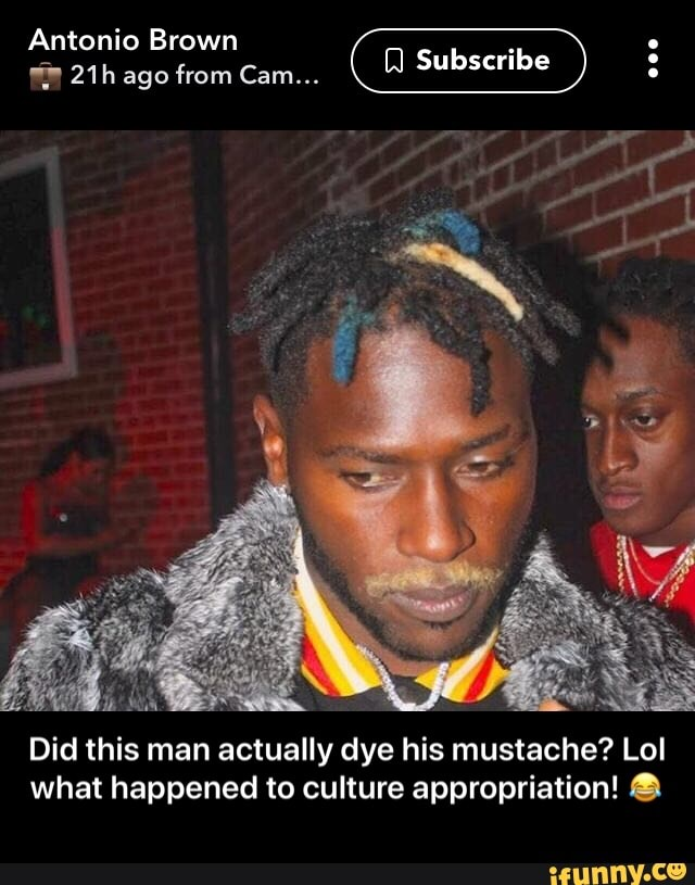 Antonio Brown Mustache >> Antonio Brown Did This Man Actually Dye His Mustache Lol