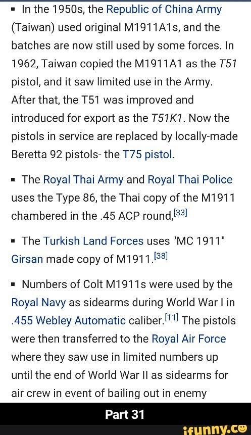In the 19505, the Republic of China Army (Taiwan) used