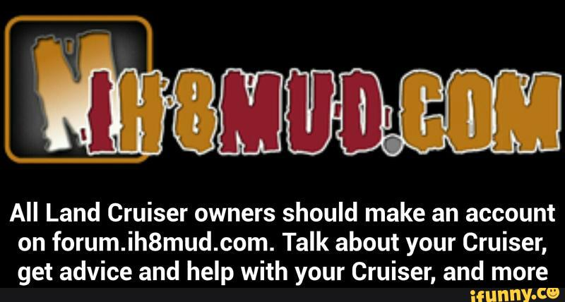 All Land Cruiser owners should make an account on forum