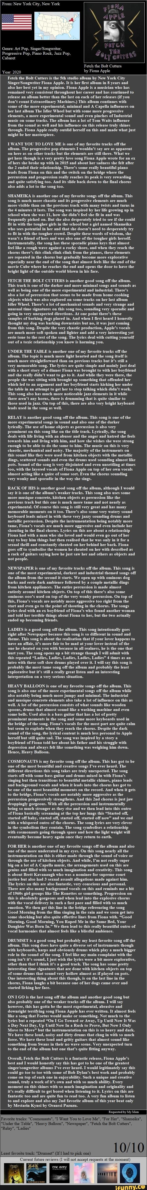 From: New York City, New York Progressive Pop, Pop ...
