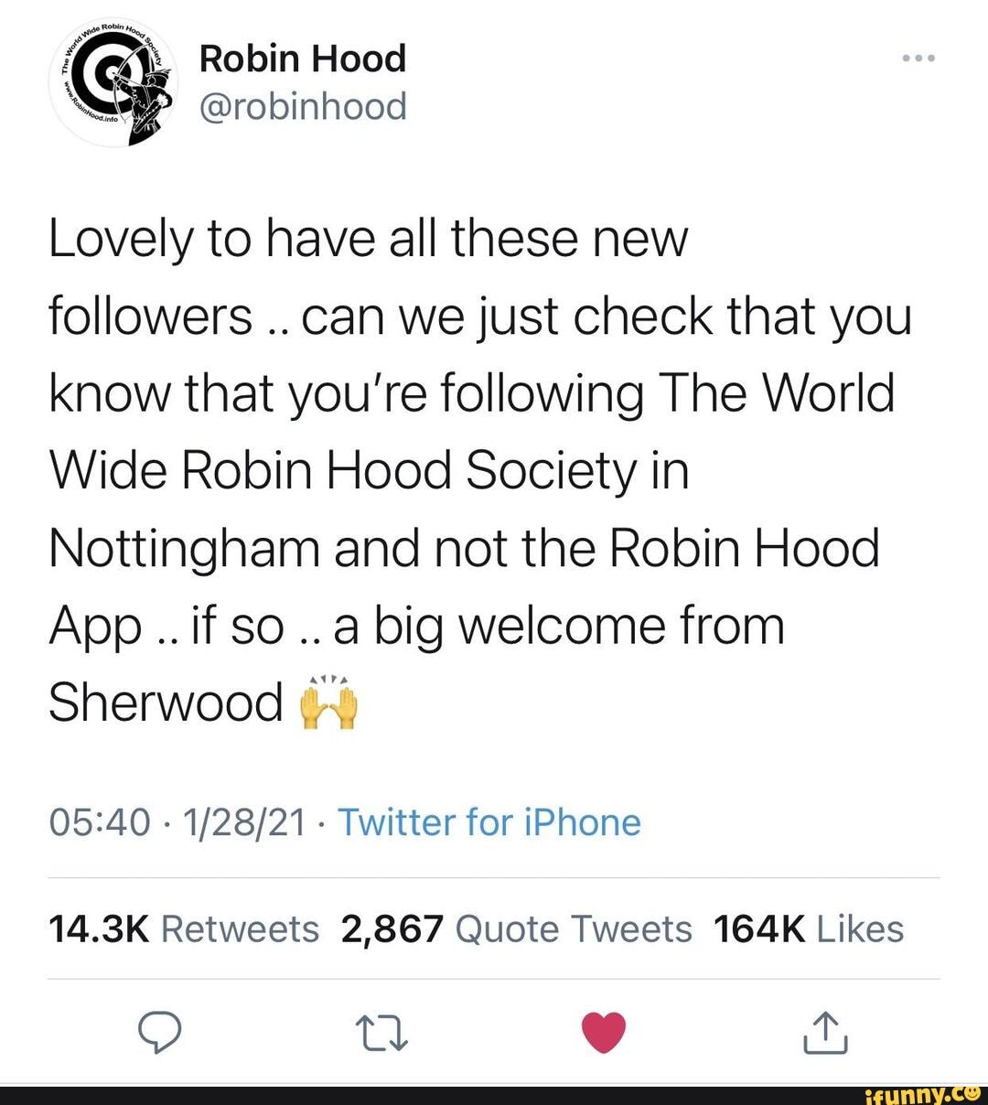 Not in this ham, fam   Robin Hood Lovely to have all these new ...