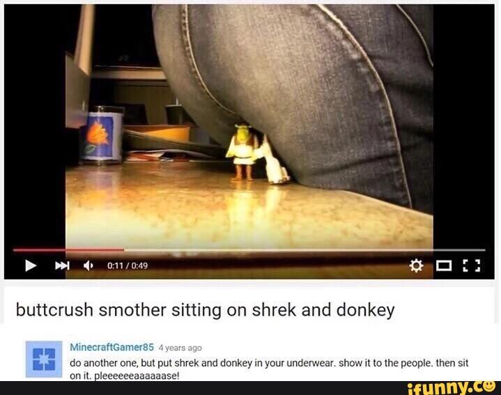 Crush butt butt crush