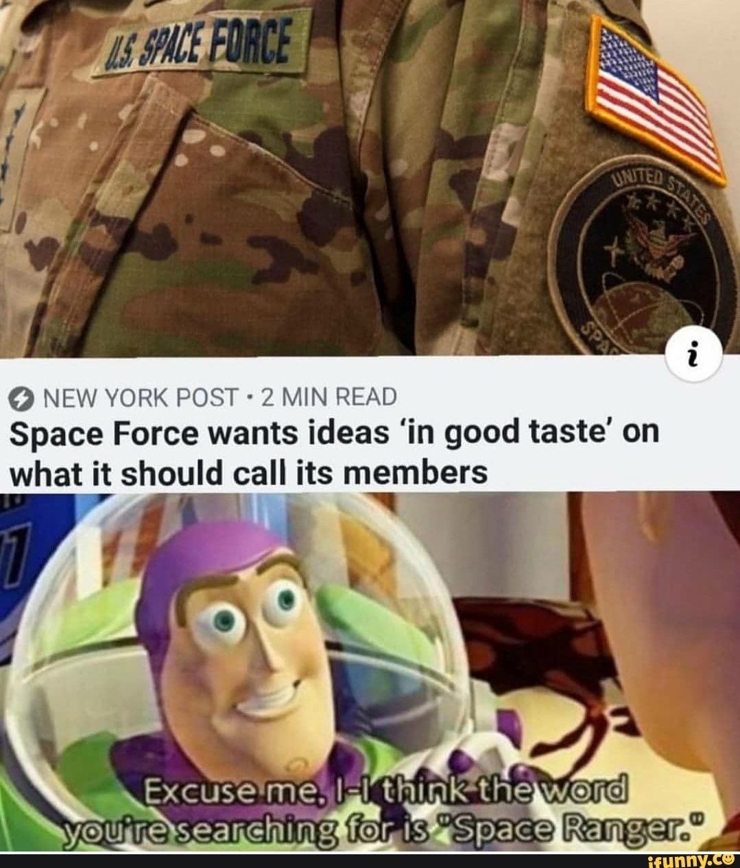 New York Post 2 Min Read Space Force Wants Ideas In Good Taste On What It Should Call Its Members Think The Wand Ifunny