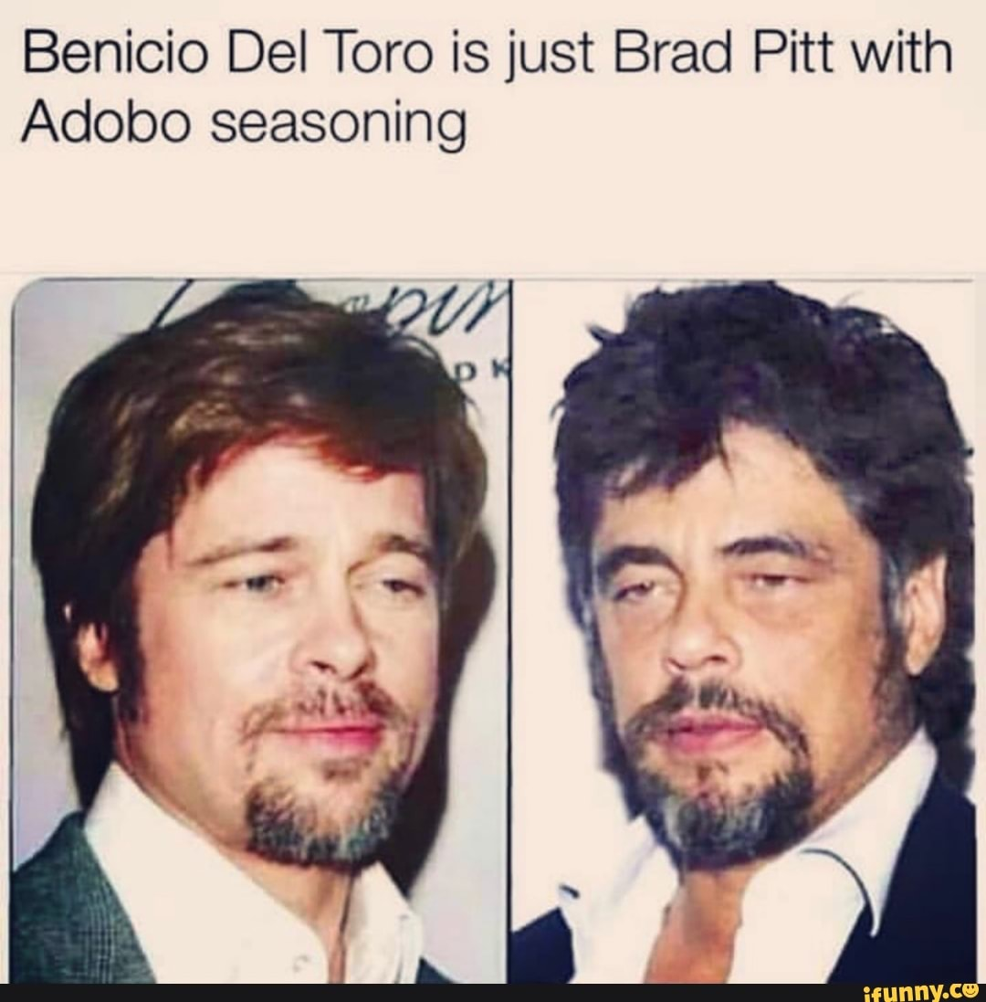 Benicio Del Toro Is Just Brad Pitt With Adobo Seasoning Ifunny